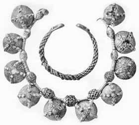 Серебряные ожерелья гнездовского клада, древнерусское искусс.