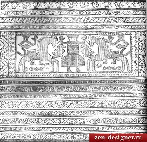 Полосы узора русской вышивки