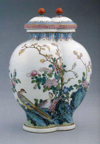 Цветы и птицы в росписи китайского фарфора