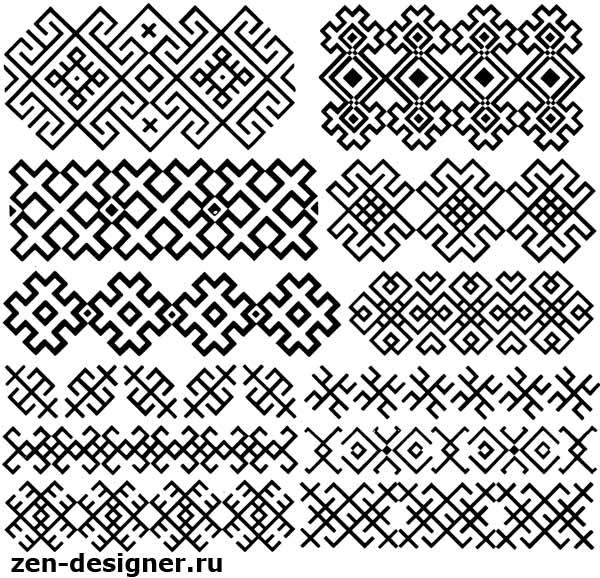Народный орнамент вышивок на рукавах