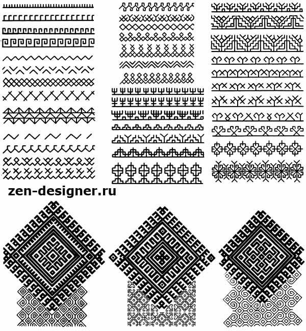 Варианты простейших орнаменталов