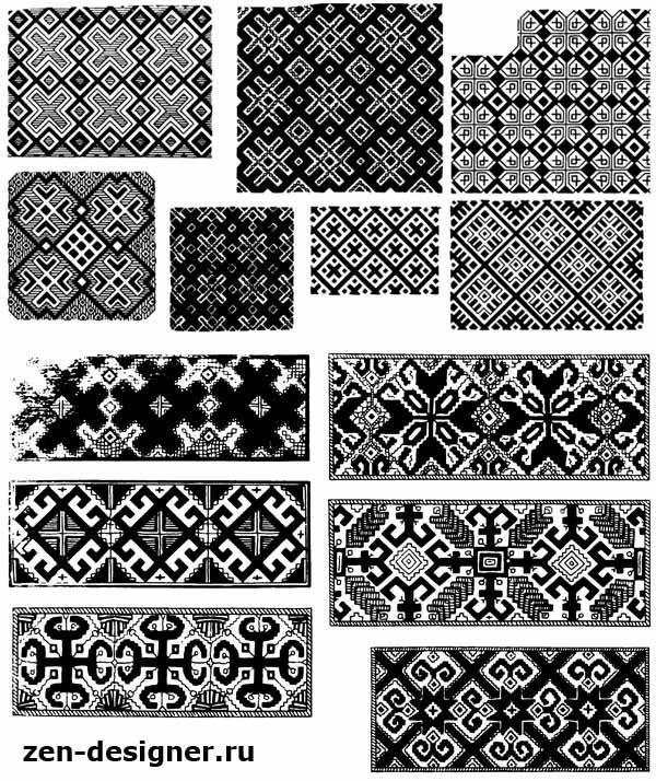 Орнамент в полосе вышивка