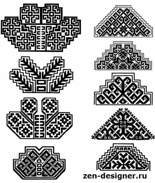 Мордовский узор вышивка
