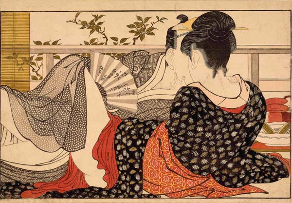 японские старинные эротические гравюры и рисунки