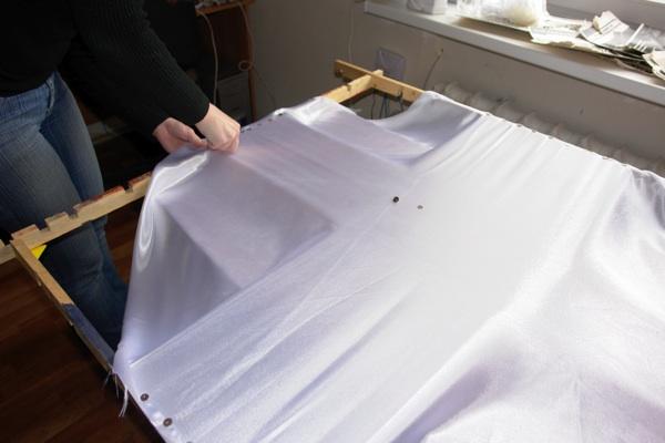 Натяжение ткани на раму для росписи