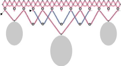 Схема плетения шейного украшения из бисера
