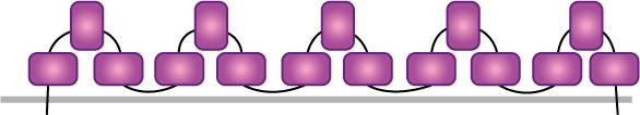 Схема нашивания второго ряда декора из бисера