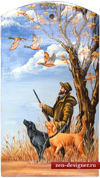 Декоративная картина охотник с собаками