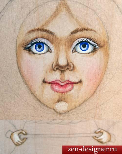 Как нарисовать лицо матрешки