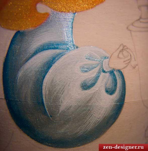 Более детальная прорисовка формы матрешки