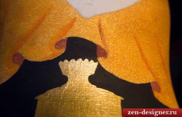 Рисование складок на одежде матрешки