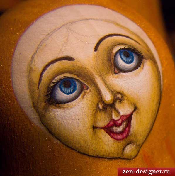 Как нарисовать глаза матрешке
