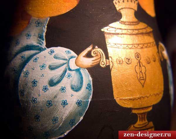 Детали росписи матрешки