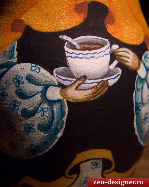 Роспись чайной чашки