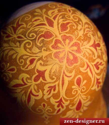 Прорисовываем платок нашей матрешки