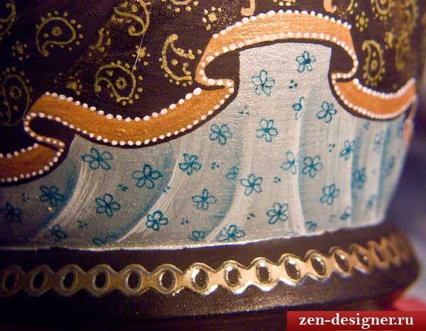 Добавим деталей к росписи сарафана