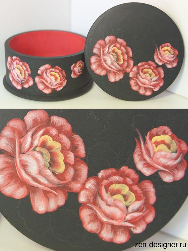 Цветочные мотивы росписи своими руками
