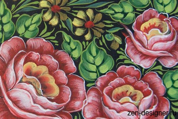 Рисуем цветы красками