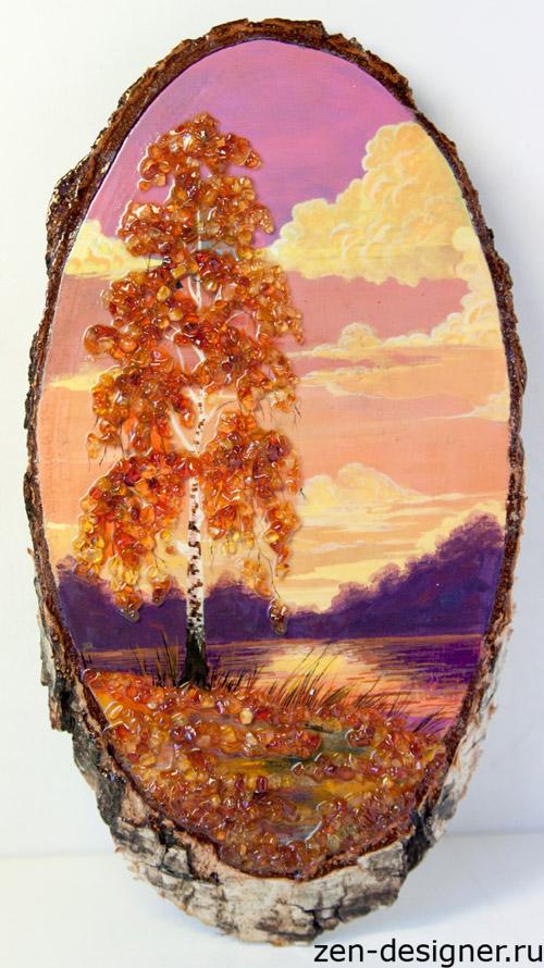 Как сделать своими руками картину из янтаря