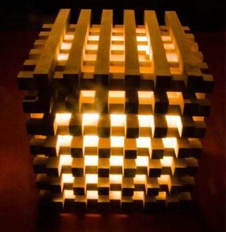 Настольная лампа из брусков
