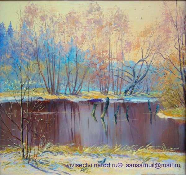 Деревенские пейзажи гуашью рисунок