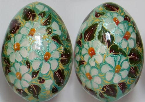 Рисунки на деревянных яйцах своими руками